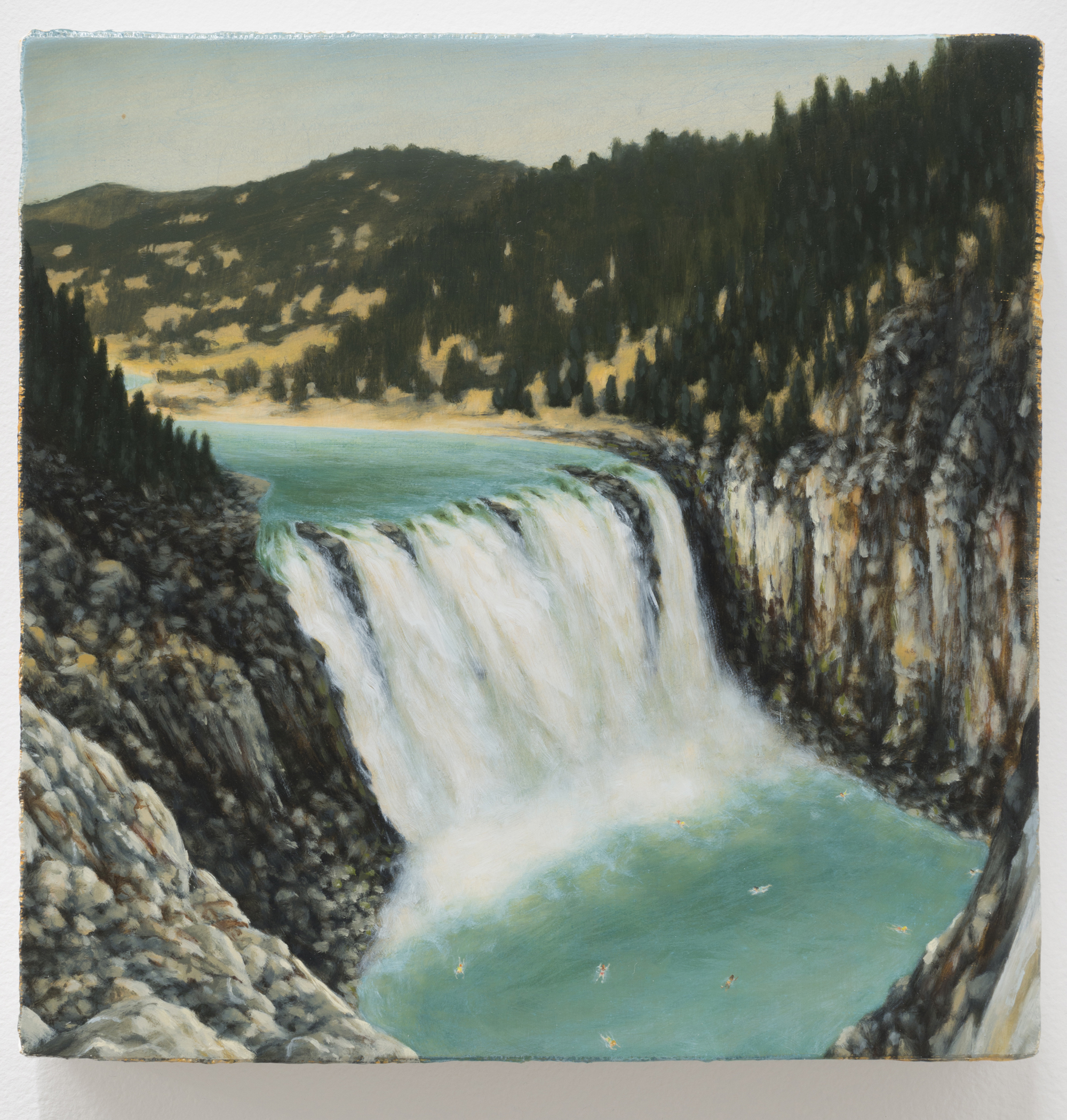 Summers At Waterfall 2 2014, oil on gesso on canvas, stretched over panel