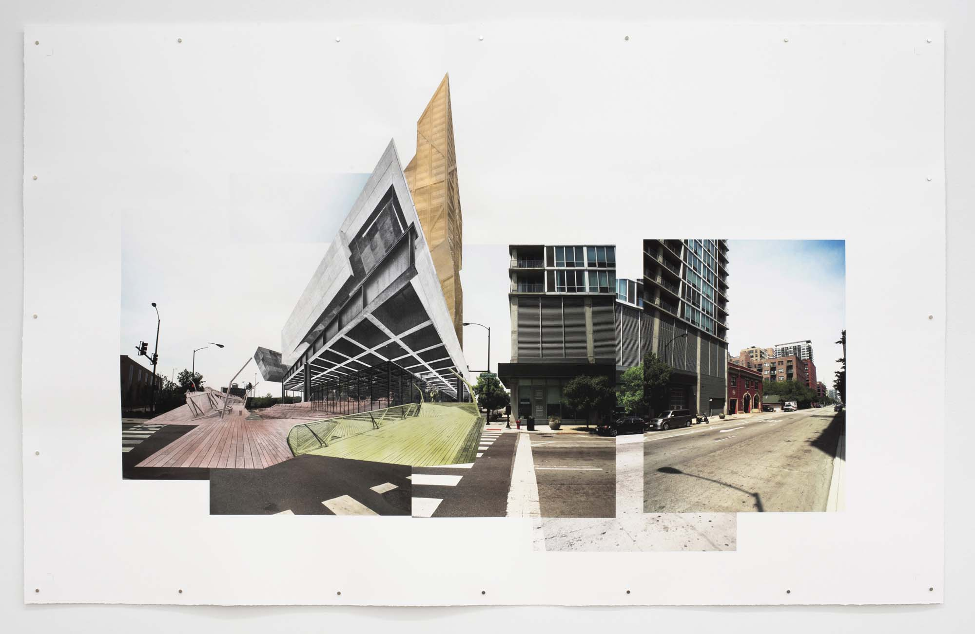 Socialist Stock Exchange 3 2013, photomontage on paper, 40 x 64 inches