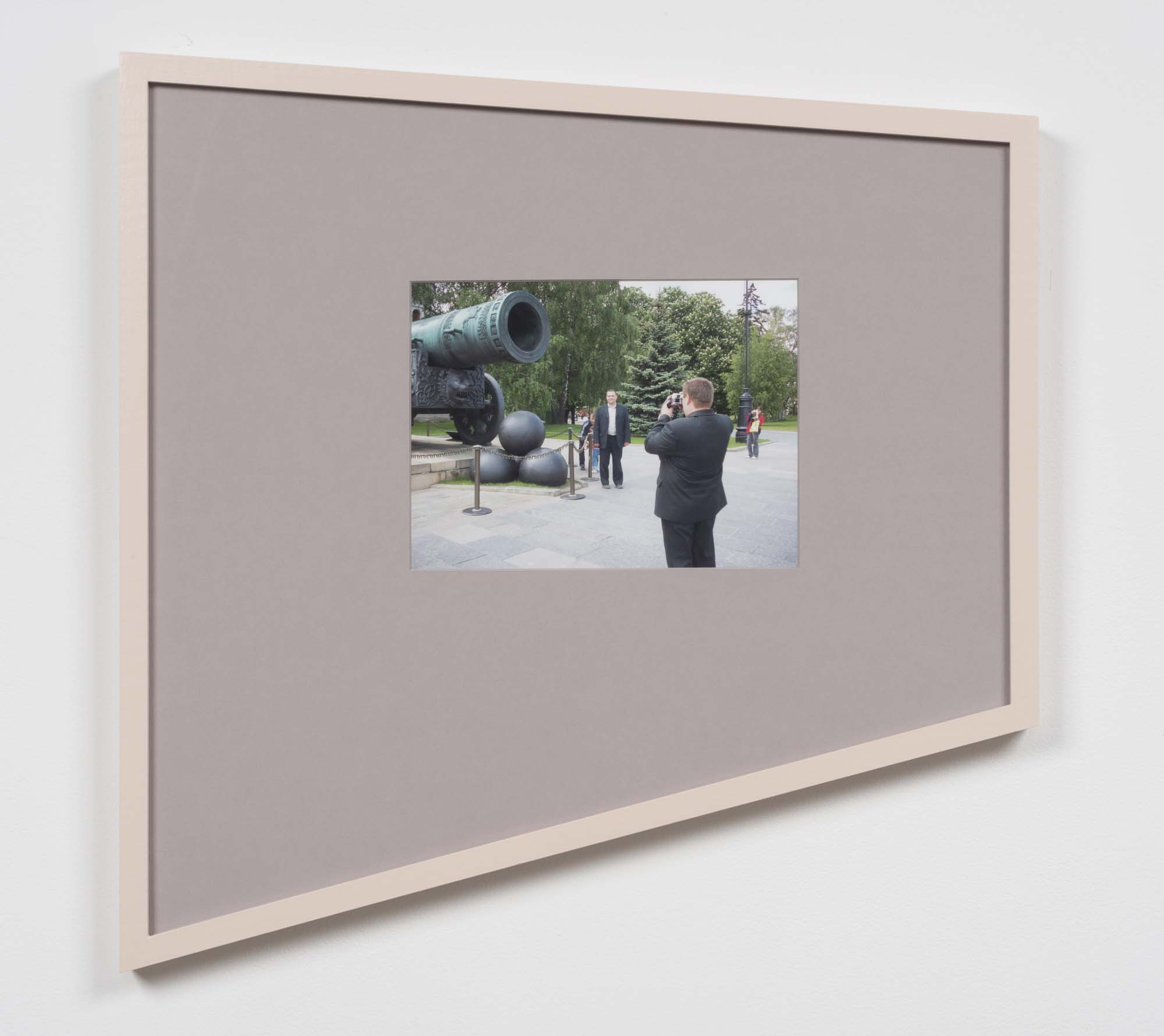 Moscow 1 (Pink) 2009/2015, inkjet print on Epson Ultra Premium Luster Archival 260gsm Paper, mounted on Rising© Museum Board, custom-designed and hand-painted maple frame, UV Plexiglas, 25 x 24 ½ in.